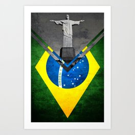 Flags - Brazil Art Print