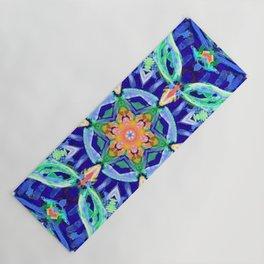 aztec floral mandala Yoga Mat