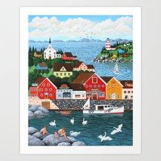 Swan's Cove Art Print