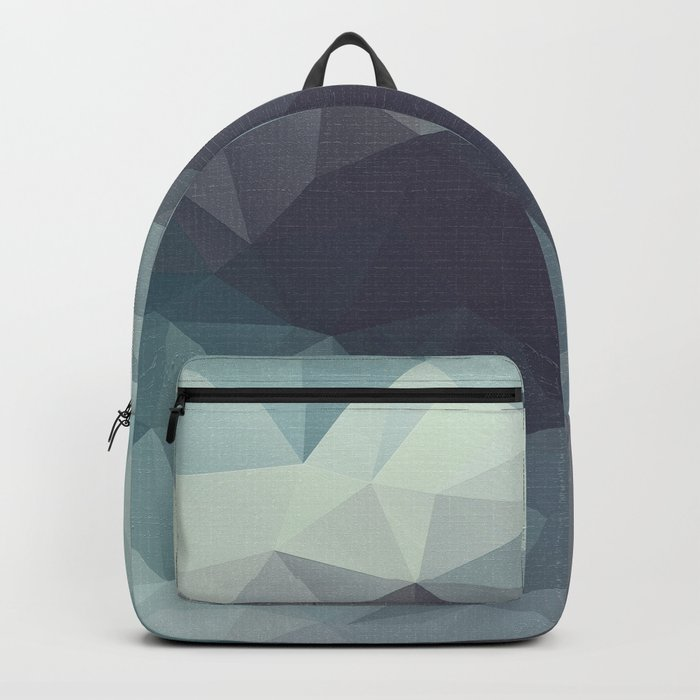 Polygon pattern . Triangles with a texture craquelure . 2 Backpack
