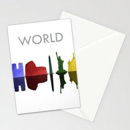 world skyline Stationery Cards