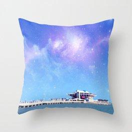 Space Pier Throw Pillow