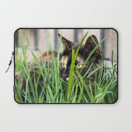 Cat in grass Laptop Sleeve