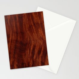 Beautiful Unique mahogany red wood veneer design Stationery Cards