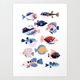 Tropical Fiji Fish Art Print