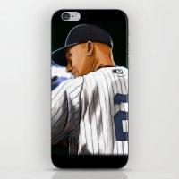 yankees iPhone & iPod Skins featuring Jeter by Ryan Ketley