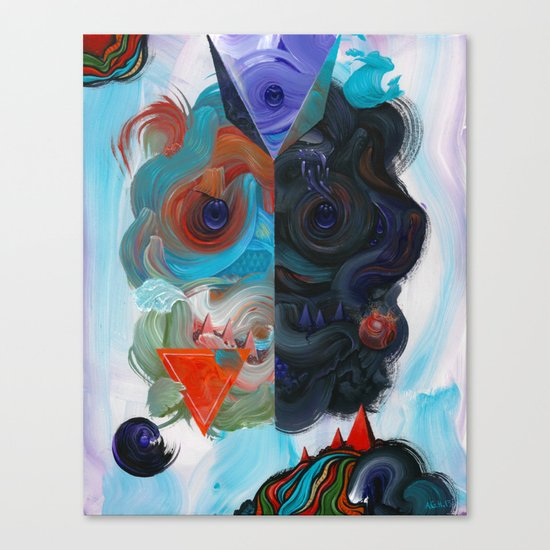 The Collision of Duality Canvas Print