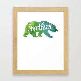 Father Watercolor Bear Framed Art Print