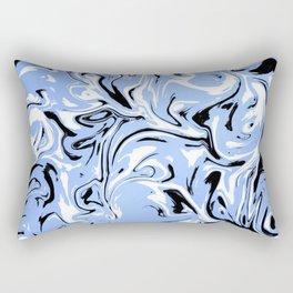 Trippy Blue Rectangular Pillow