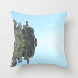 Split Rock Lighthouse Lake Superior Minnesota Throw Pillow