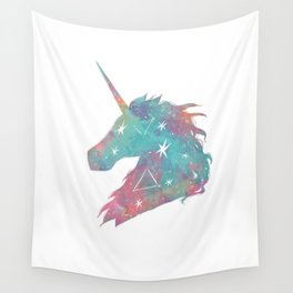 Watercolor Unicorn Wall Tapestry
