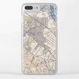 Old Map of Palo Alto & Silicon Valley CA (1943) Clear iPhone Case