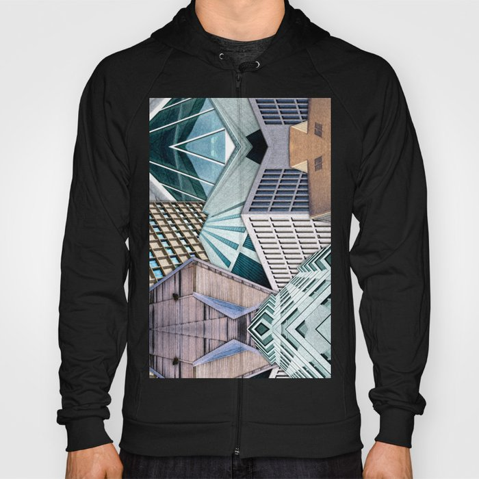 City Buildings Abstract Hoody