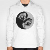 ying yang Hoodies featuring ying yang by ivette mancilla