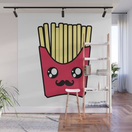 Kawaii French Fries Wall Mural