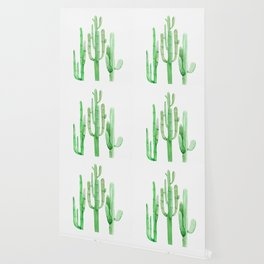 Three Amigos Cacti Green Wallpaper
