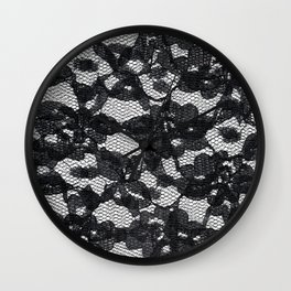Double Black Lace Wall Clock