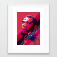 greg guillemin Framed Art Prints featuring GREG ODEN MIAMI HEAT by mergedvisible