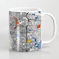 portland Mugs featuring Portland by Mondrian Maps