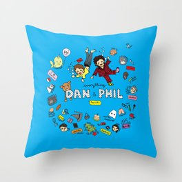 The Vortex of Everything Dan and Phil Throw Pillow