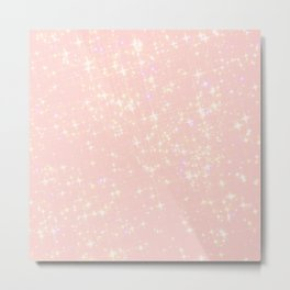 Abstract girly pastel pink elegant glam glitter Metal Print