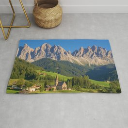 Italian Dolomites, South Tyrol Panoramic View Rug