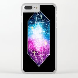 Watercolor Galaxy Crystal Violet Clear iPhone Case