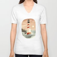 whale V-neck T-shirts featuring Whale by Seaside Spirit