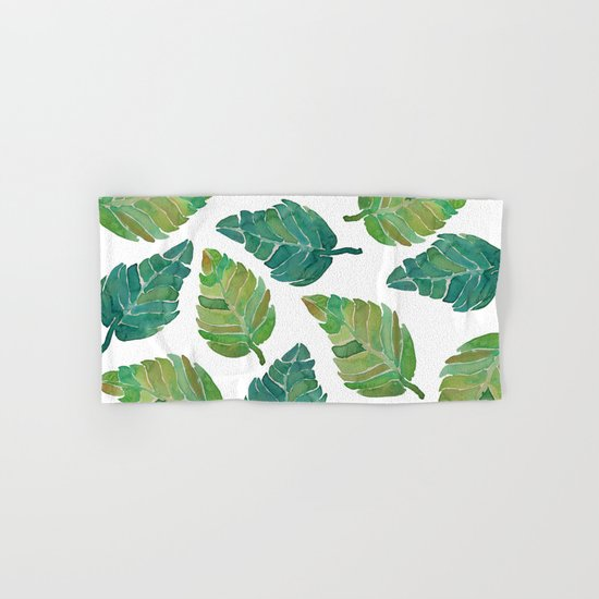 Jungle Leaves Hand & Bath Towel