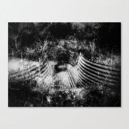 Creepy Runoff Drain Canvas Print
