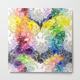 Rainbow Spectrum heart extra dense pattern Metal Print