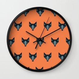 Wolves at Dawn Wall Clock