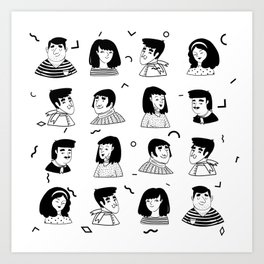 People Avatar | Pattern Art Art Print