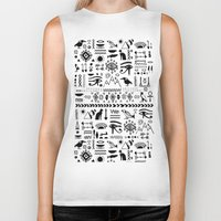 egyptian Biker Tanks featuring Egyptian Pattern by Mad Love
