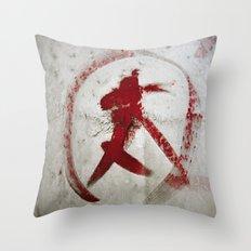 Painted Tuna Throw Pillow