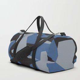 Camouflage Splinter Pattern Blue Duffle Bag