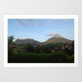 Clouds Surrounding Arenal Volcano, Costa Rica Art Print
