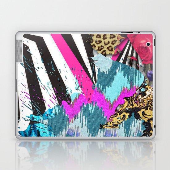 Fashion | Chic aztec pink teal zebra stripes leopard pattern Laptop & iPad Skin