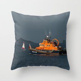 RNLI Lifeboat Torbay Throw Pillow