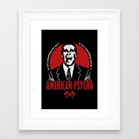 american psycho Framed Art Prints featuring American Psycho by Buby87