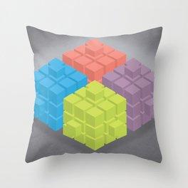 Cubes Throw Pillow
