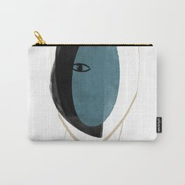 Abstract Head Carry-All Pouch