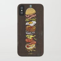 burger iPhone & iPod Cases featuring Burger by Duke.Doks