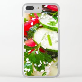 Fresh vegetable salad Clear iPhone Case