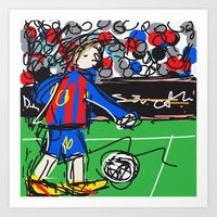 messi Art Prints featuring Messi by Rimadi