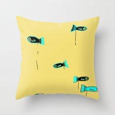 Peces Cagones Throw Pillow