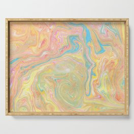 Summer Sherbet Marble Serving Tray