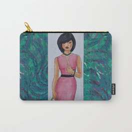 The Woman In Pink Carry-All Pouch