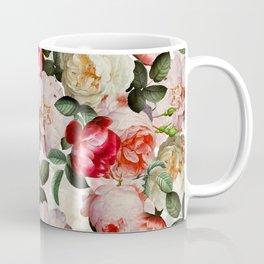 Antique Dutch Roses Pattern Coffee Mug