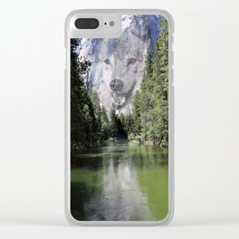 Wolf Mountain Clear iPhone Case